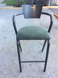 Black and gray metal  bar chairs Toronto, M2R 2A3