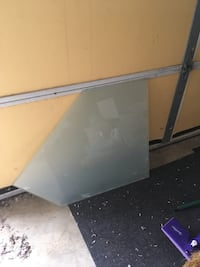 Frosted thick plate glass - two (2) matching pieces Virginia Beach