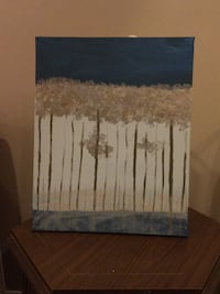 White and blue abstract painting Toronto, M2N 7K2