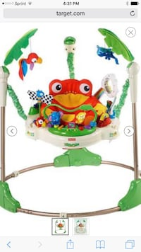 baby's green, white, blue, and red Fisher Price jumperoo Centreville, 20120
