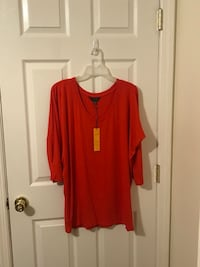 women's red scoop neck long sleeve dress Old Bridge, 08857