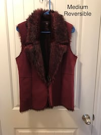 Burgundy Ladies Reversible Vest Killeen, 76549