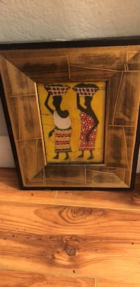 brown wooden framed painting of woman Los Angeles, 91423