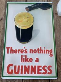 Guinness Vintage Draft Draught Beer Signs Tacker Sign Tin Poster 12x18