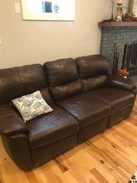 brown leather 3-seat recliner sofa Orlando, 32804