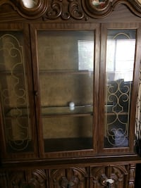 brown wooden china cabinet Humble, 77346