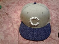 gray and blue fitted cap Alamo, 78516