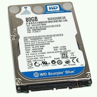 "Laptop Sata hard drive 80 gig 2.5"" $10 only Toronto, M9V 2G3"