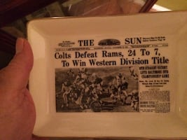1964 Colts western champs ceramic plate