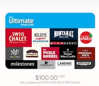 $100 Gift Card - the Ultimate Dining Experience Toronto, M1N 1V6