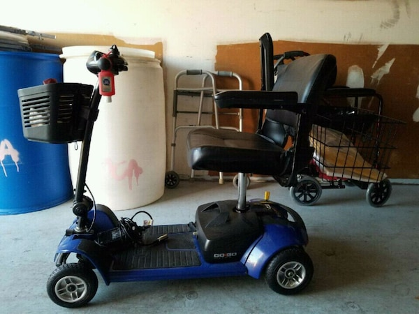 Used Mobility Scooters For Sale >> Blue And Black Mobility Scooter