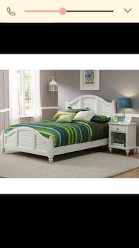 Queen Headboard,footboard, rails and night stand.  Delaware County