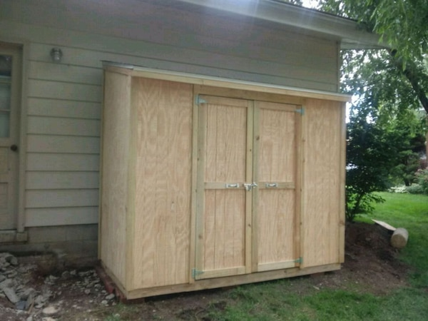 4x8 Lean to Pine Shed with FREE DELIVERY in I-270!
