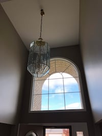 Brass & GlAss foyer light Mokena, 60448