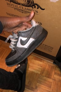 Custom made cool grey Air Force 1s Toronto, M5B 1E2