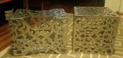 Unusual Patterned steel boxes