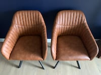 Two brown leather accent chairs BRAND NEW!  Arlington, 22202