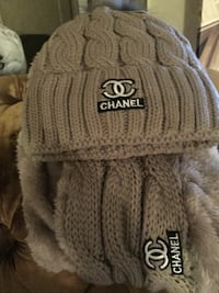 gray and black knit cap 69 km
