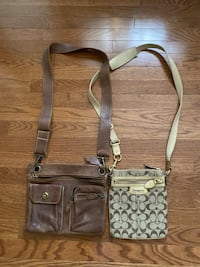 2 crossbody purses (Roots & Coach)