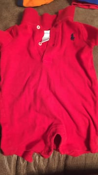 Red Ralph Lauren polo shirt 6M