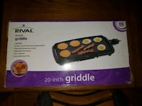20 inch Rival griddle Toronto, M1R 1W4