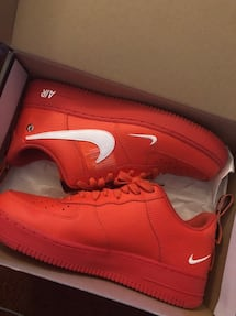 Cherry red Airforce ones