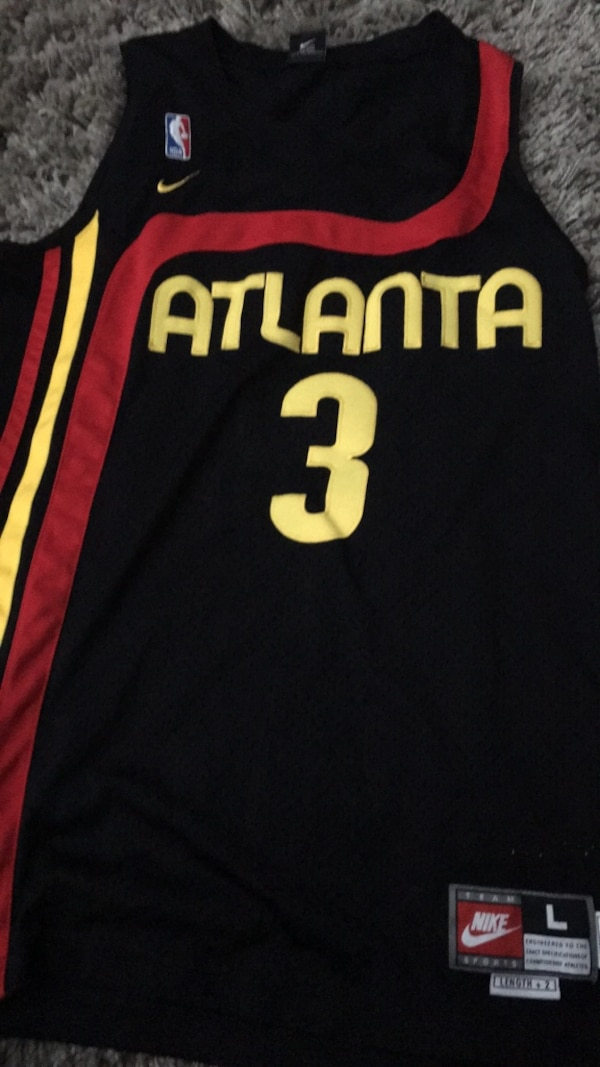 59d5e5591f9 Used Black and yellow Atlanta hawks jersey for sale in Englewood - letgo