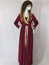 Dubai Moroccan Arabiyan Style Long Burgundy Dress  Brampton, L7A 3W7