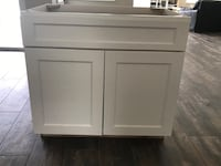 """2 new shaker style 36"""" cabinets"""