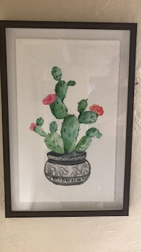green and red flower painting San Diego, 92105