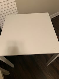 white wooden table with white wooden base Denver, 80205