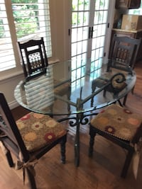 """60"""" Oval Glass Table w/ 4 Chairs Moorpark, 93021"""