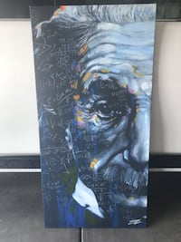 Z Gallery Einstein Canvas Artwork. Dimensions are 54x27x1.  Just bought 6 months ago for $200. Looks brand new. Kirkland, 98033