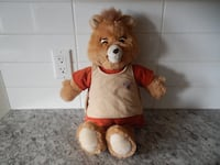 *Vintage* 1985 Teddy Ruxpin Doll. Comes with one tape to play. Tape Portion does indeed still work, but unfortunately his eyes/mouth no longer move to the tape :( He is in great shape still and displays great! $20 PU Morinville