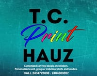 custom design prints apparels, vinyl decals for cars Gaithersburg, 20878