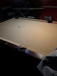 white and black billiard table