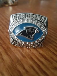 silver-colored and black Carolina Panthers championship ring Las Vegas, 89108
