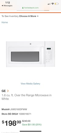 General Electric Microwave  New York, 11360