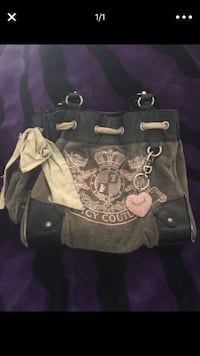gray and white Juicy Couture tote bag Lake Elsinore, 92530