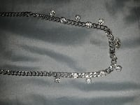 Silver chain necklace with crystal rhinestones  Norfolk, 23523