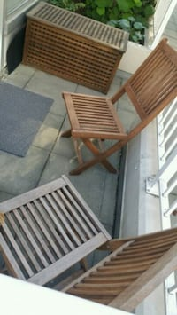 2 Patio chairs and storage box Vancouver, V6Z