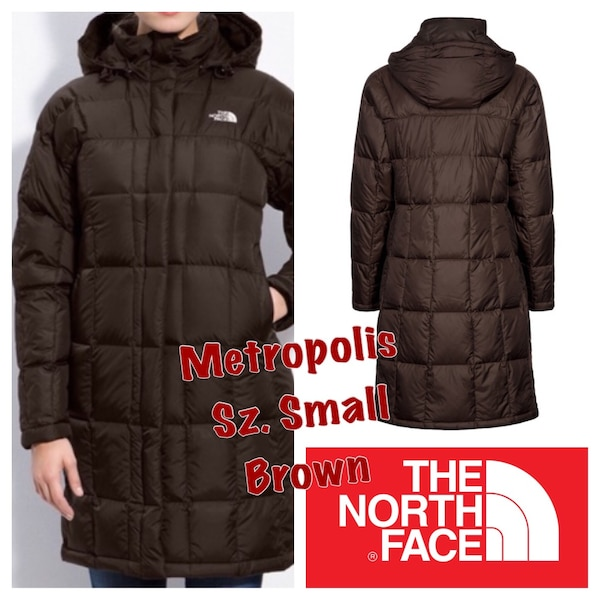 dc640b14c Barely worn The North Face Metropolis Coat Jacket Small SM Almost New Brown  Down Fill 600 Winter Coat Paid over $350