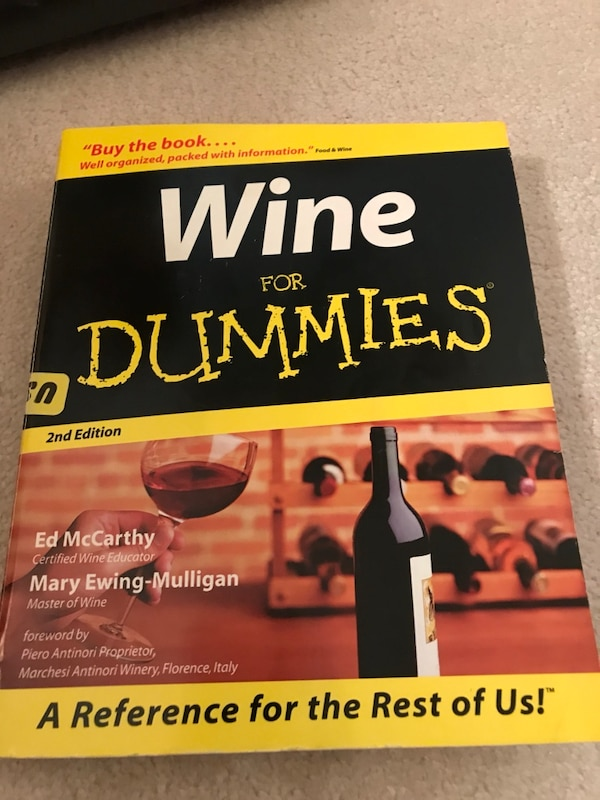 Wine for dummies book!