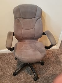 Gray high-back office chair