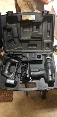 black and gray cordless power drill Easton, 18045