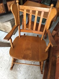brown wooden rocking chair Piedmont, J0R