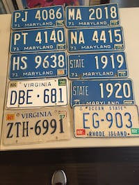 10 license plates for $25.