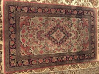 Antique Persian Qum handmade 100% silk rug. recently cleaned. Size 2.5x4.5 ft. Toronto, M2R 3N1