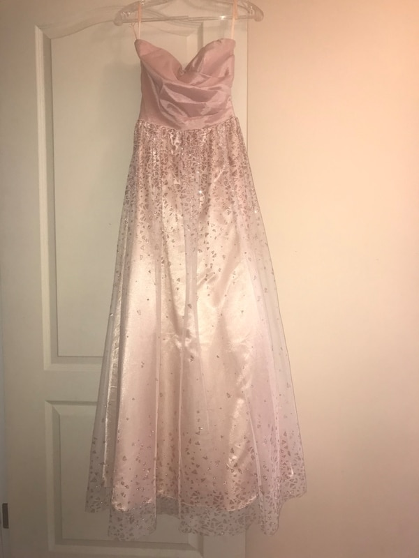 Rose gold fit and flare dress