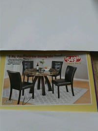 black wooden framed dining set Brockton, 02302